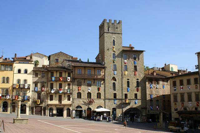 Piazza Grande Arezzo Toskania Włochy