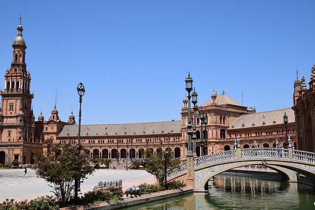 Plaza de España Sewilla Hiszpania