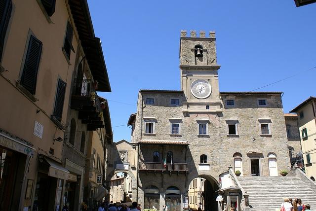 Piazza della Repubblica Cortona Włochy