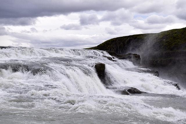 Islandia, Golden Circle, Wodospad Gullfoss