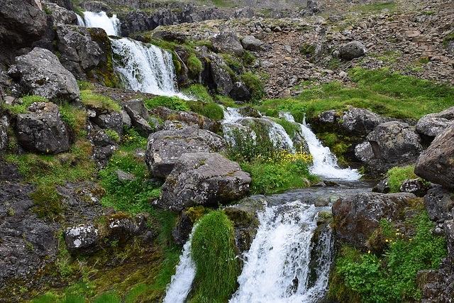 Islandia, Fiordy Zachodnie, Dynjandi