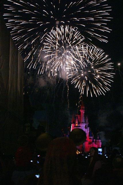 Magic Kingdom Orlando sztuczne ognie