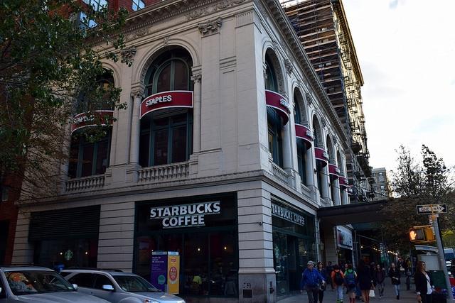 Nowy Jork Starbucks Coffee Manhattan