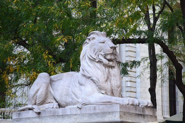 Fortitude (Hart ducha) Lion New York Public Library Manhattan Nowy Jork