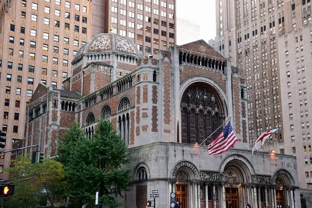 Nowy Jork, St. Bartholomew's Church, Manhattan, USA