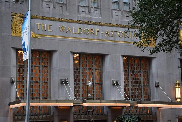 Nowy Jork The Waldorf AstoriaNowy Jork, The Waldorf Astoria, Manhattan, USA