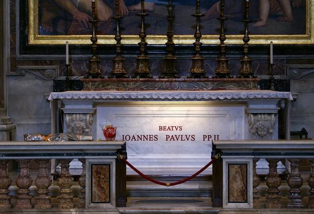 Rzym Bazylika Św. Piotra Grób JP II