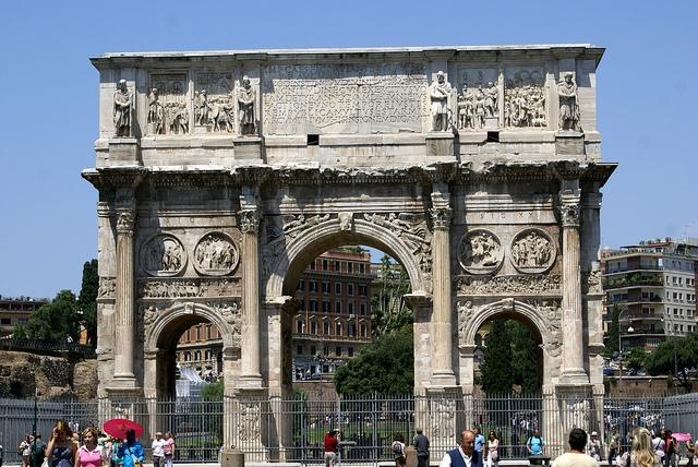 Rzym, Forum Romanum Łuk Konstantyna