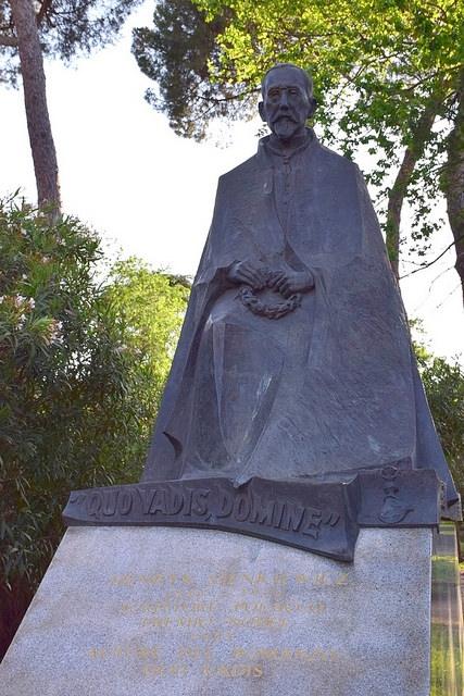 Henryk Sienkiewicz, Ogrody Borghese, Rzym, Włochy