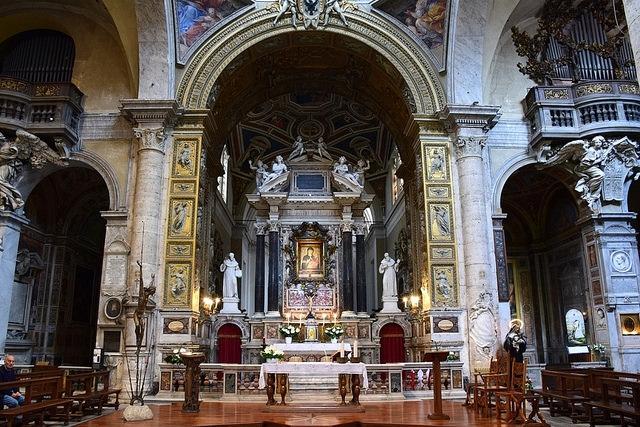 Ołtarz Bazyliki Santa Maria del Popolo, Rzym, Włochy