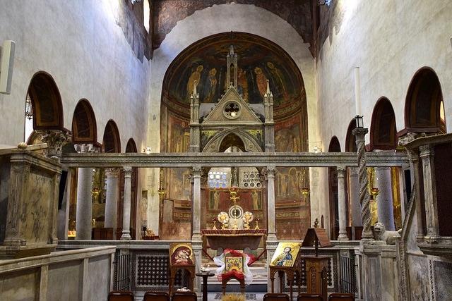 Ołtarz Bazyliki Santa Maria in Cosmedin, Rzym, Włochy