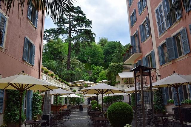 Ogrody Hotelu de Russie, Rzym, Włochy