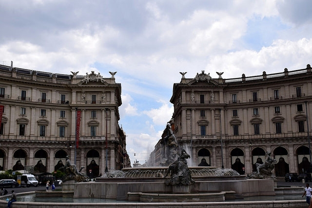 Piazza della Repubblica, Rzym, Włochy