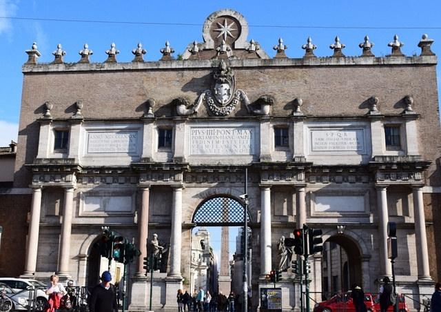 Porta del Popolo (Porta Flaminia), Rzym, Włochy