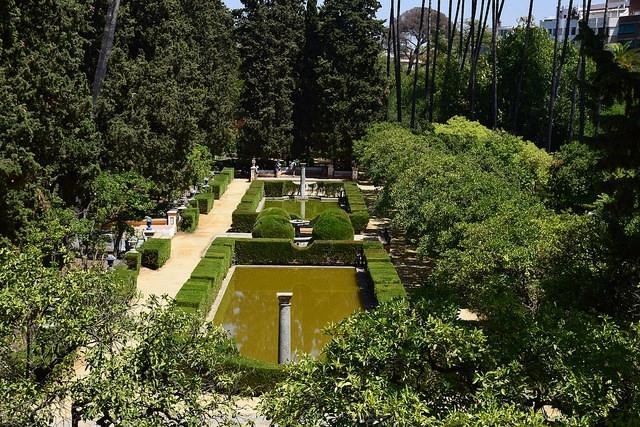 Ogrody Real Alcázar Sewilla Hiszpania